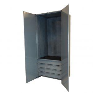 Förvaringsskåp</br>4 lådor med verktygstavla.